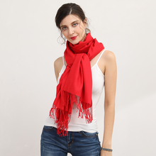 Solid Scarf Women bufandas mujer red fashion warm women scarves winter scarf wrap shawl Blanket Scarf Luxury Brand YW004(China)