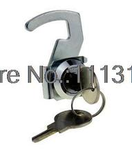 Zinc Alloy Hook Flat Cam Lock with clip POS Casher Drawer Hook Cam Locks Small Furniture Cabinet Cam Locks 1 PC(China)