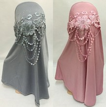 Fashion Women Lady Embroidery Floral Muslim Hijab Islamic Scarf Arab Shawls Headwear(China)