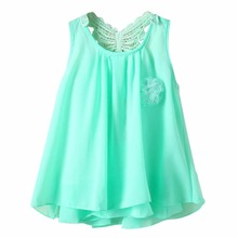 2-7 Y Baby Summer Sundress Kids Girl Chiffon Vest Tutu Dress Sleeveless Dresses