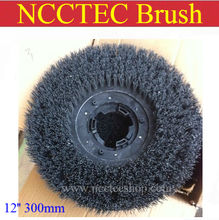 12'' steel wire floor clean brush | 300mm circular antique brush disc for granite marble with floor polisher