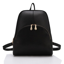 2015 New Casual Women Backpack Female PU Leather Women's Backpacks Bagpack Bags Travel Bag back pack Free Shipping