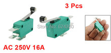 Roller Hinge Lever Arm Momentary Micro Switch E-Switch SPDT 1 NO 1 NC 16A 250V AC KW3-0Z Discount x 3 Pcs / Lot(China)