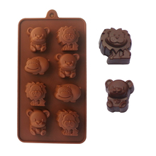 1pcs Cute Animal Shape Food Grade Silicone Cake Mold Chocalate Mould Cooking Tools Baking Mold DIY Baking & Pastry Tools D0138(China)