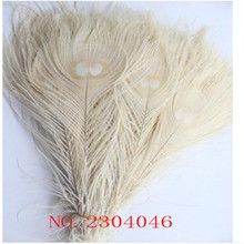 50 PCS White Peacock Feathers, 10 to 12 inches (25-30CM) Decorated Peacock Feathers Wedding Free Shipping