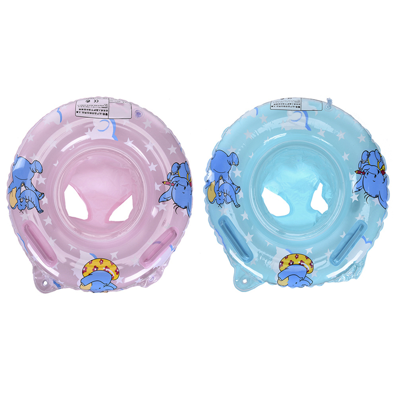 Baby Summer Playing Water Swimming Pool Rings Infant Double Handle Safety Seat Float Swim Ring Inflatable Children Swim Circle