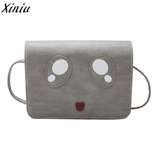 Woman Shoulder Bags Cartoon Eyes Patchwork Leather Small Square Handbag Girls Fashion Messenger Bag Bolsa Feminina De Ombro*7801(China)