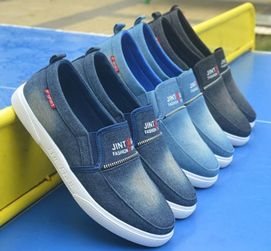 Spring and summer burst punk men canvas shoes low to help tie shoes casual shoes spring lazy shoes<br><br>Aliexpress