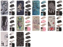 Flip PU Leather Phone Case For Huawei P10 P10 Lite Stand Wallet Case Owl Tiger Lion Dandelion Pattern Cover with Card Holder