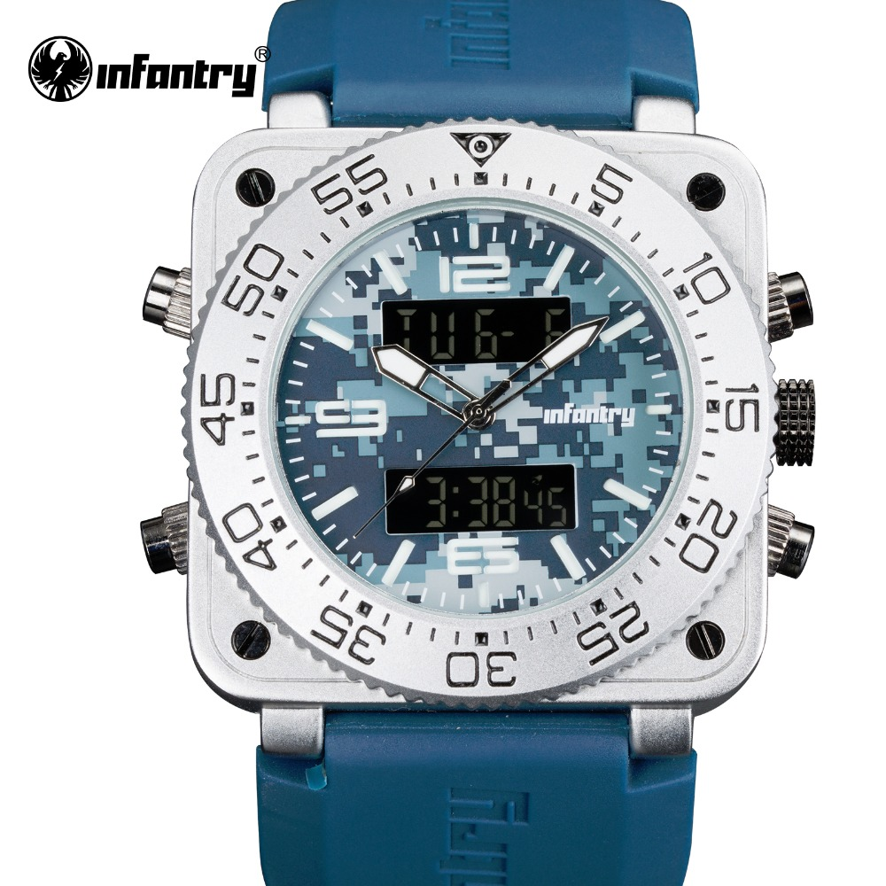 INFANTRY Mens Watches Top Brand Luxury Military Rubber Strap Quartz Watch Chronograph Sport Male Clock Relogio Masculino 2017<br>