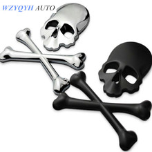 car-styling 3D 3M Skull Car Motorcycle Sticker Label Skull Emblem FOR /VW/mazda/ mitsubishi/ /opel /skoda/toyota/CRUZE/FORD