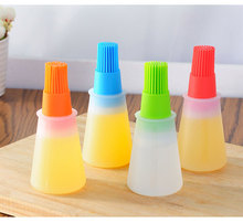 1 pc Grill Oil Bottle Brushes Silicone Liquid Oil Pen Cake Butter Bread Pastry Brush Baking BBQ Utensil Basting Brush(China)