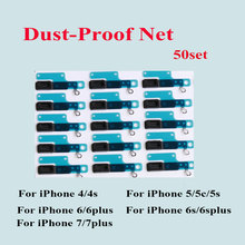 50pcs/lot Rubber Speakers Dust-proof Net Mesh Stickers For iPhone 4 4S SE 5 5S 5C 6 6S 7 Plus Earpiece Speaker Aniti Dust Mesh