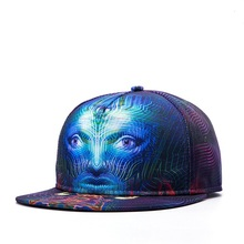 Men Snapback Cap Top Quality Skull 3D Embroidery Baseball Hats Popular Flat Peaked Caps(China)