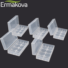 ERMAKOVA 5 Pcs/Lot Battery Storage Box Hard Plastic Battery Case Container Holder Organizer 18650 16340 CR123A Battery(Clear)(China)