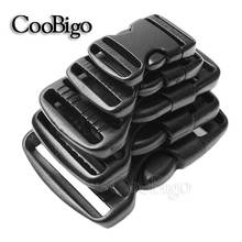 "3/4""~2"" Plastic Hardware Dual Adjustable Side Release Buckles Molle Tatical Backpack Belt Bag Parts Strap Webbing #FLC066"