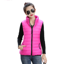 Hot Autumn Winter Coat 2016 Women Ladies Gilet Colete Feminino Casual Waistcoat Female Sleeveless Cotton Vest Jacket Plus Size