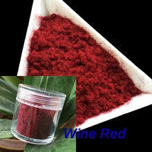 10g/bottle Nail Glitter Wine Red Nail Decoration Fuzzy Flocking Manicure Velvet Powder Nylon Powder For 3D Candy Nail Art Tips(China)