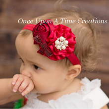 TWDVS New Fashion Style Headwear Baby Girls Flower Headband Rose Pearl Hair Accessories Children Hair Bands Hats Hot Selling W95(China)