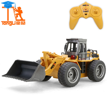 Large 6CH Alloy RC Cars Fork Lift Wireless Remote Control Truck Clasps Mechanical Electrical Model Cars Toys Christmas Gifts TL