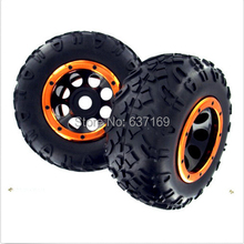 98050 99006 Wheels Complete 2pcs 1/8 Scale For Radio Remote Control RC Rock Crawler