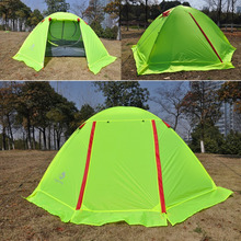 Four-season Ultra-light Nylon Breathable Two Persons Couple Camping Tent Aluminum Rod With Snow Skirt Waterproof Beach Tent(China)
