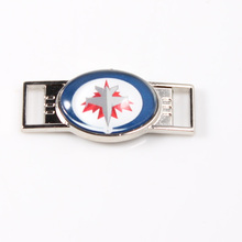 Winnipeg Jets NHL Hockey Team Logo Oval Shoelace Charms For Sport Shoes And Paracord Bracelets Jewelry Decoration 6pcs(China)