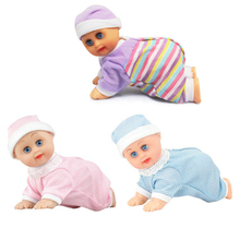 Electric music baby crawl doll educational learning fun toys to present Birthday Gift dolls Crawling Music Baby Doll Cute Toys(China)