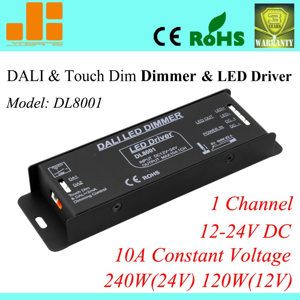 Free Shipping Top Selling DALI Dimming 12V/10A, DALI LED driver 240W, 1channel DALI Controller, Constant Voltage DL8001<br><br>Aliexpress