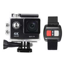 "2.0"" LCD 4K Camera Action Camera 12MP 1080P Full HD Wifi APP Sport Camera DV Wide Angle Lens with Remote Watch"