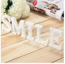 DIY creative 15 cm  Artificial wooden white Digital Numbers and letters home decoration decoration wedding party