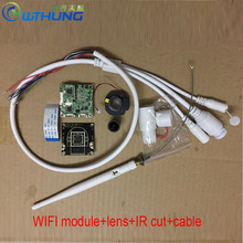Wireless wired IP camera module HD 720P 960P 1080P support motion detector onvif P2P SD card slot Max32G for CCTV security cam(China)