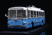Diecast Trolley Bus Model Soviet Union Russian ZIU-5 1:43 (Blue/White) + SMALL GIFT!!(China)