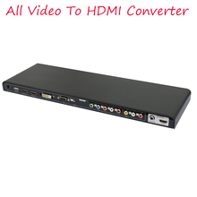 2017 New ALL to HDMI converter AV YPbPr DVI VGA HDMI  All Video to HDMI Converter Scaler Full HD 720/1080P 3D
