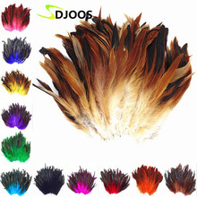 200 PCS Natural Colourful Rooster Feathers Fly Tying Bulk Feathers Christmas Decorations For Home Wedding New Year Cosplay Sale(China)
