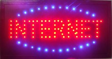Led- 2017 hot sale 10X19 inch indoor Ultra Bright running Internet Bar Neon light sign(China)