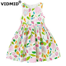 VIDMID children baby Dresses For kids teenagers Girls Dresses party Floral Kids girls clothes clothing Sundress 7004 01(China)