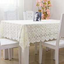 Designer Lace Table Cloth Set,Modern European Rustic Vintage Floral Wedding Tablecloth,Delicate Hollow Out Table Linen