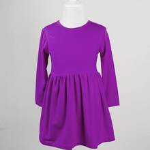 Bulk buy from China kids trendy clothing simple designs purple baby girl's boutique dress