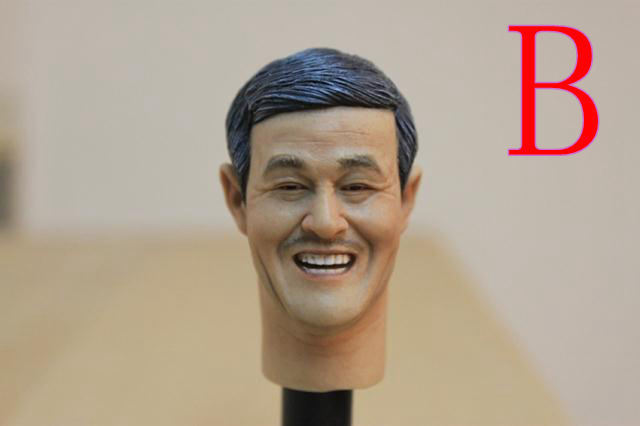 Chinese and Japanese star collection of head carved 1/6 DIY doll Parts 12 model Replace the head Not including clothes and body<br>