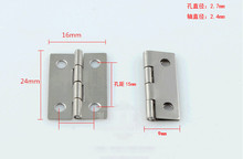 Wholesale 24*16MM 1-inch small hinge 304 stainless steel round small hinges Gift Wooden box Furniture hinges 100pcs/lot