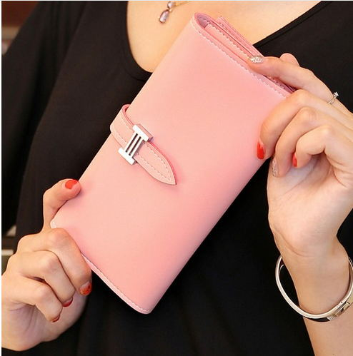 2016 New Carteira Real Womens Wallet Purse with Large Capacity and Multi-Card Holder Long Section Solid Colors<br><br>Aliexpress