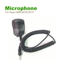 Hand Free Microphone Shoulder Speaker For Yaesu VX6R,VX7R,VX177,VX170 FT270R,FT277R VX460 Etc Walkie Talkie With 3.5mm(China)