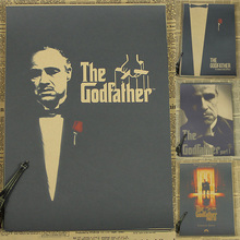 The Godfather classic gangster movie poster old video room decorative painting The Godfather Marlon Brando(China)