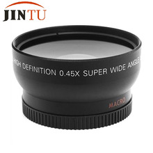 JINTU 52MM 0.45x Wide Angle Macro Lens for Nikon D7100 D5500 D3300 Df D90 D40X Camera 18-55mm LENS with Free Carry Bag(China)