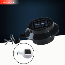 CHINCOLOR LED Outdoor Solar Power Solar Light 3 Led Bulds High Brightness Waterproof Garden Fence Yard Wall Pathway Lighting  FA