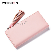 Big Capacity Women Wallets Ladies Clutch Female Fashion Leather Bags ID Card Holders Cell Phone Cash Wallet Ladies purses bolsas(China)