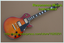 New Arrival Guitar Vintage Sunburst Finish LP Custom Epin Guitar Golden Hardware Custom Guitar & Kits Available