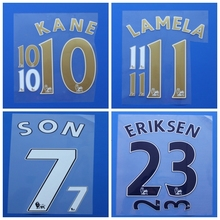2016 2017 Premier league SON KANE LAMELA ERIKSEN custom football number font print ,stamping Soccer patch badge