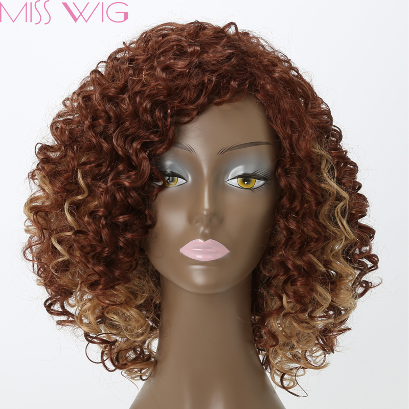 17Kinky Curly Synthetic Wig 200g Natural Hair Afro Wigs Brown Hair Heat Resistant Hairs Perruque Synthetic Women Kinky Curly <br><br>Aliexpress
